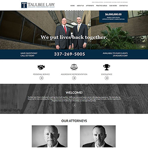 image for New Site: Taulbee Law Firm